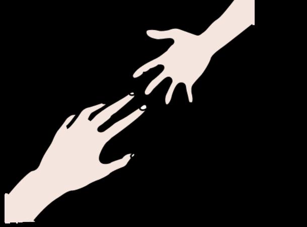 aikuisen ja lapsen kädet kurottavat toisiaan kohden